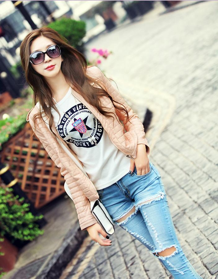 chaqueta de cuero pink kitykatblog
