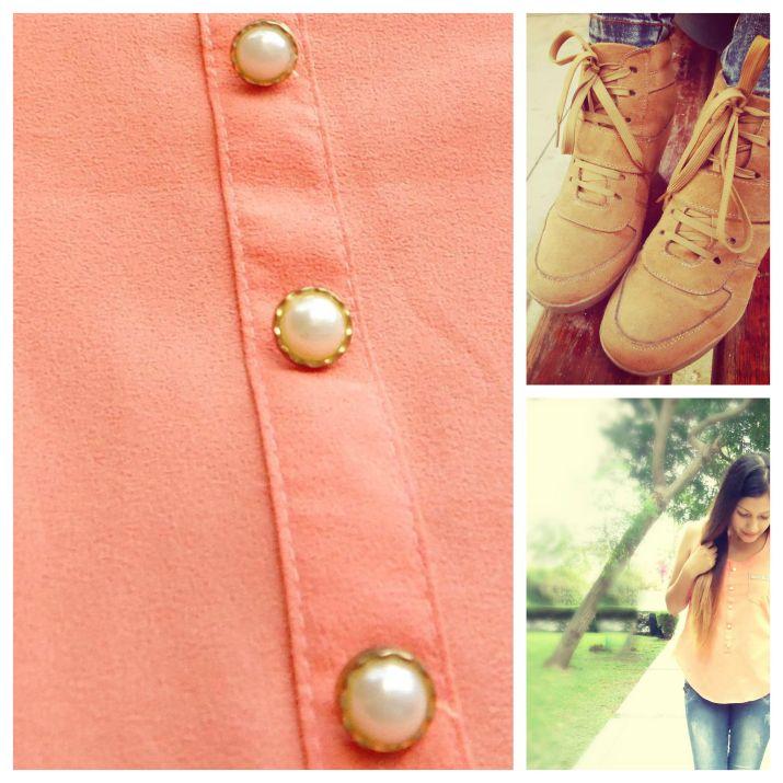 blusa de perlas