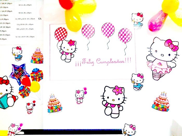 decoracion de hello kitty