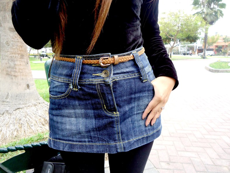 falda a la cintura