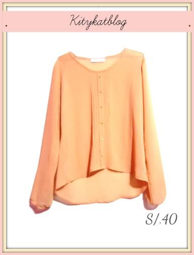 Blusa de gasa melon
