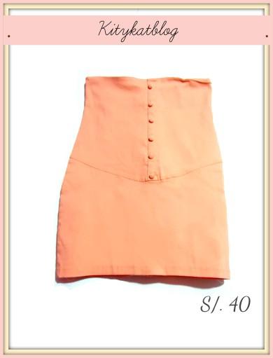 Falda tubo melon- Kitykatblog