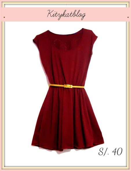 Vestido vino - Kitykatblog