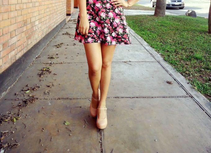 falda de flores