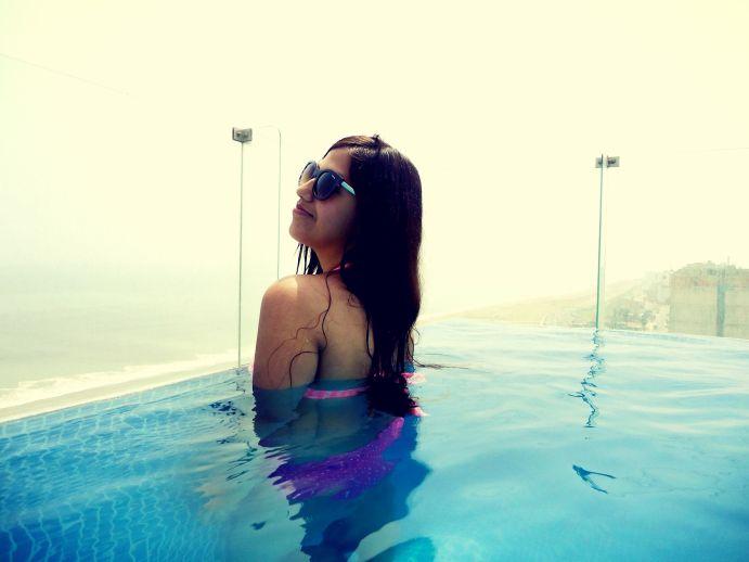 piscina rosa