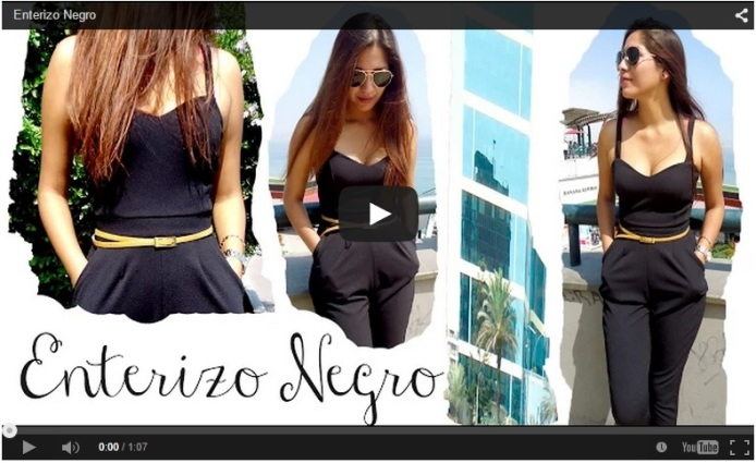 Enterizo Negro Youtube