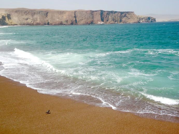 Playa de arena roja Paracas